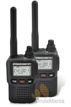 PAREJA PMR DYNASCAN AD-09 CON PROGRAMACION ESPECIAL - La pareja de PMR Dynascan AD-09 es una de las mas ligeras y completas del mercado, incluye batería de Ion-Litio, cargador, pinganillos, tonos CTCSS, DCS, incluyen radio de FM,... Si dispone de otros PMR de diferente marca puede elegir la configuracion de sus AD-09 para que sean totalmente compatibles.