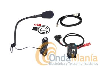 MICROFONO ADONIS FX6 PARA DYNASCAN 920RE - Micrófono manos libres con micrófono con flexo y sin subida y bajada de frecuencia/canales compatible con el Dynascan 920RE