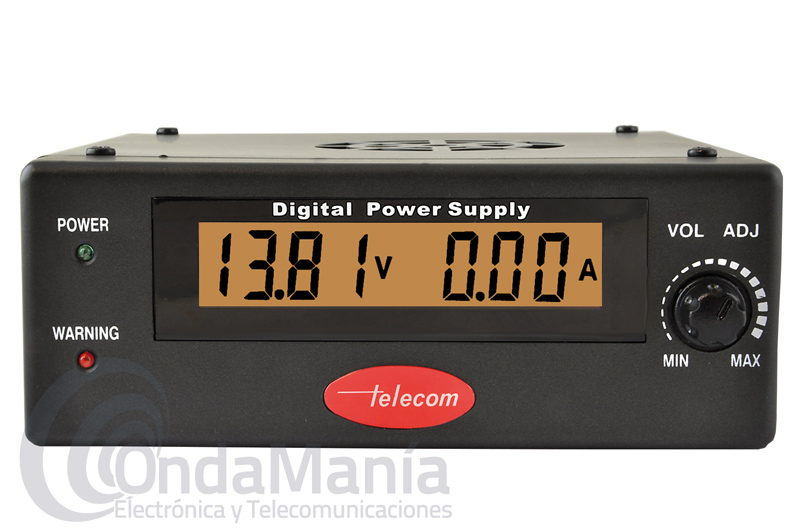 TELECOM AV-830-DP FUENTE DE ALIMENTACION DIGITAL Y REGULABLE DE 25 A 30 AMP.