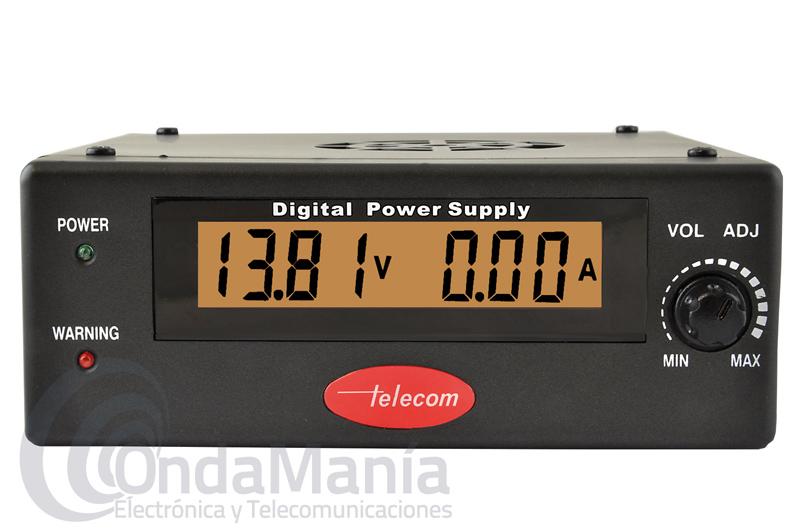 TELECOM AV-830-DPZ FUENTE DE ALIMENTACION DIGITAL Y REGULABLE DE 25 A 30 AMP. Y DE 0 A 28 V - Fuente de alimentación digital, conmutada y regulable de 0 a 28 V, con una intensidad de 25 a 30 Amp, dispone de protección contra cortocircuito, sobrecarga, sobrevoltaje y sobre-temperatura,....