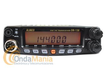 ALINCO DR-138 EQUIPO MOVIL DE VHF CON 60 W / 25 W / 10 W - Equipo móvil de VHF con tres niveles de potencia regulable de 60W, 25W y 10W, 200 memorías alfanuméricas,tonos CTCSS y DCS, micrófono con DTMF,...
