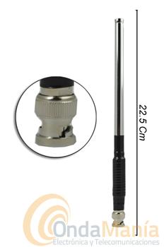 ANTENA ANT-2 MTS-3 - Antena telescópica de VHF con conector BNC.