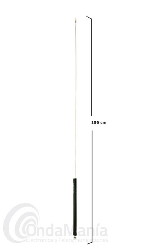 KOMUNICA RANGER-80 ANTENA MOVIL PARA 3.5 MHZ - Antena móvil monobanda con conector PL para 3,5 MHz con 156 cm y una potencia máxima de 150 W.
