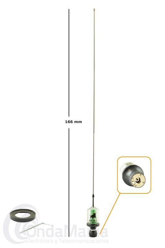 SIRIO BULL TRUCKER 5000 PL LED RADIANTE SIRIO PARA 27 MHZ CB
