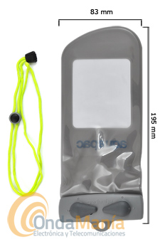 FUNDA ACUAPAC MINI 108 PARA MOVIL O GPS CON LCD DE 4.2