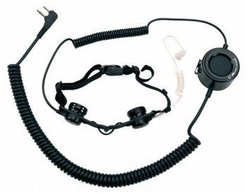 ATM TACTICAL - MIDLAND ATM TACTICAL (norma militar) Laringófono con PTT Táctico y auricular neumático con jack 2 pin a 90º