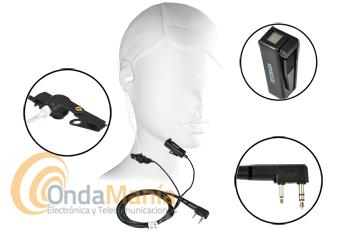 KENWOOD KHS-8BL - El Kenwood KHS-8BL es un conjunto de micrófono auricular de perfil bajo.
