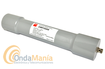 DIAMOND CMF-5000 FILTRO PASABAJOS PARA ANTENA (ORIGINAL JAPON) - Filtro Diamond (original)de antena para una frecuencia de 1 a 54 Mhz con una potencia máxima de 5kW, 50 Ohm de impedancia,...