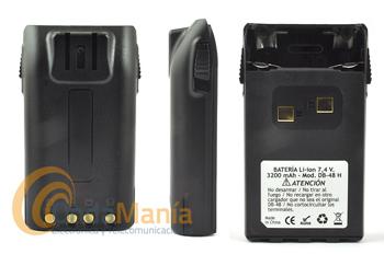 BATERIA DE LITIO CON 3200 MAH PARA EL DYNASCAN DB48, R46 Y MIDLAND CT-790 - Batería de litio con 3200 mAh para los Dynascan DB-48 y R-46 y el Midland CT-790. Requiere cargador opcional especial para baterías de alta capacidad (3200 mAh).