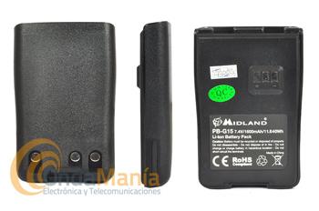 BATERIA MIDLAND PB-G15/G18 PARA EL MIDLAND G-15 Y EL G-18 - Batería original para el Midland G-15, G-18, Dynascan R-58,.. con 7,4V y 1600mAh.