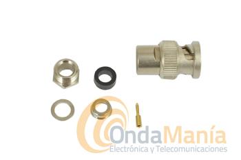 CONECTOR BNC PARA RG-213 - Conector BNC macho para RG-213 manual (para soldar)