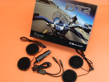 MIDLAND BT2 TWIN INTERCOMUNICADOR BLUETOOTH PARA PILOTO Y COPILOTO + 2 BT2 HI-FI + BT2 AL12 V