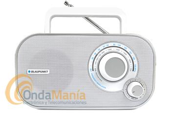 BLAUPUNKT BTA-6001 BLANCA - Radio analógica de escritorio / portátil FM/MW.