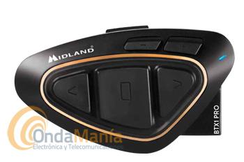 MIDLAND BTX1 PRO PILOTO+PORTE GRATIS - El Midland BTX1 PRO (piloto) es la solución mas avanzada en el mercado para aquellos que quieren el mejor rendimiento para sus conversaciones. Utiliza tecnología Bluetooth Dual Core 4.2. Intercomunicación entre 2 personas simultáneamente y una distancia aproximada de 300 m. ACTUALIZALO A LA NUEVA VERSION MWE 28-03-18!!!