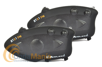 MIDLAND BTX1 FM TWIN INTERCOMUNICADOR PILOTO/COPILOTO PARA MOTO+PORTE GRATIS