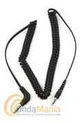 CABLE DE AUDIO PARA INTERCOMUNICADORES MIDLAND  BT Y SERIES BTX - Cable de audio para los Midland BT2, BT2 Twin, BT1 y BT Single, BTX1 y BTX2, este cable le permite conectar un MP3, MP4, IPod,... a su intercomunicador.