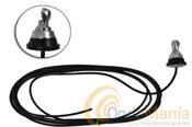 """BASE TIPO N (MARIPOSA) CON CABLE - Base de mariposa (tipo """"N"""") con 4 mts. de cable RG-58"""