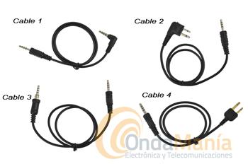 CABLES DE CONMUTACION PARA RADIO-TONE RT-CRC1  - Juego de cables de conmutación y adaptación para las diversas marcas y modelos al Transponder-Controlador con función repetidor duplex Radio Tone RT-CRC1