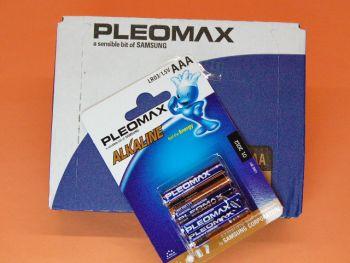 R-3 (AAA) CAJA CON 10 BLISTER DE 4 PILAS ALCALINAS PLEOMAX SAMSUNG - Caja con 10 blister de 4 pilas (total 40 pilas) R-3 (AAA) alcalinas Samsung Pleomax