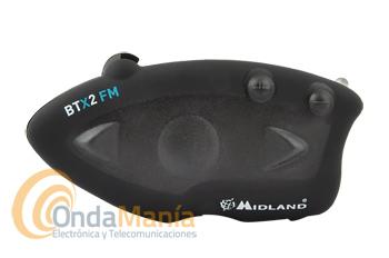 CARCASA DELANTERA Y TRASERA PARA MIDLAND BTX2 / BTX2 FM - Carcasa completa (delantera, trasera) sin antena para el intercomunicador demoto Midland BTX2