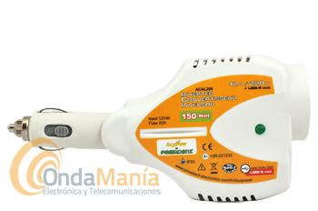 ALCAL 200 CONVERTIDOR DE TENSION DE 12V A 220 V CON 150 W DE POTENCIA