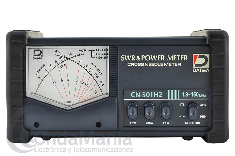 DAIWA CN-501-H2 MEDIDOR DE ROE Y WATIMETRO DE 1,8 A 150 MHZ Y 2 KW