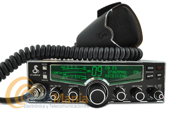COBRA 29LX-EU TRANSCEPTOR DE 27 MHZ - Moderno transceptor de 27 Mhz con un diseño moderno e innovador, dispone de cuatro colores intercambiables para su LCD, función SoundTracker,...