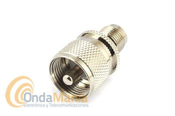 ADAPTADOR PL MACHO A TNC HEMBRA - Adaptador coaxial PL (UHF) macho a TNC henbra