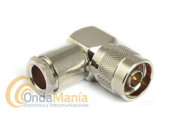 CONECTOR N MACHO ACODADO PARA CABLE RG-213