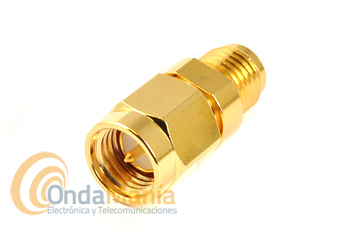 3798 ADAPTADOR SMA MACHO (NORMAL) A SMA HEMBRA INVERTIDA R/P