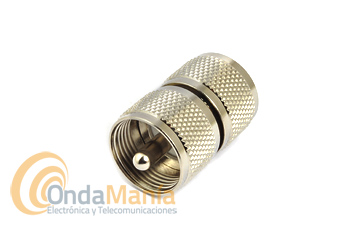 ADAPTADOR DOBLE MACHO PL (UHF DOBLE MACHO)