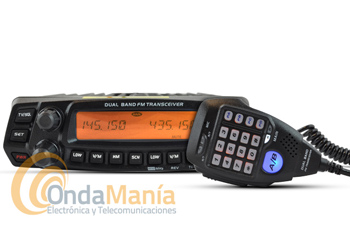 CRT 270M EMISORA DOBLE BANDA VHF/UHF 144/430 MHZ + PORTE GRATIS - Transceptor de VHF y UHF doble banda FULL DUPLEXcon 50 y 40 W, 758 canales de memoria, con recepción en banda aerea, marina, tonos DCS, DTMF,....
