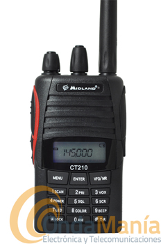 MIDLAND CT-210 PORTATIL DE VHF - OUTLET - REFURBISHED