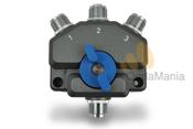 CONMUTADOR DE ANTENA AV-SW3M - Conmutador coaxial de alta calidad con conectores PL, dispone de 1 entrada y 3 salidas y una impedancia de 50 Ohm.