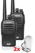 PACK DUO DYNASCAN DA-350 dPMR-446 DE USO LIBRE ANALOGICO/DIGITAL+PINGANILLO DE REGALO+PORTES GRATIS - PROMOCION ESPECIAL, ULTIMOS DIAS!!! El pack Dynascan DA-350 son unos transceptoresportátilesde UHF de uso libre con funciones analógicas y digitales dPMR-446. Incluye la última tecnología digital dPMR para una mejor protección de interferencias, es compatible con el Kenwood TK-3401D y el resto de equipos PMR-446 analógicos de cualquier otra marca.