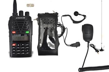 DYNASCAN DB-48 FULL COMPAC DOBLE BANDA CON MULTIPLES ACCESORIOS Y PORTES GRATIS - Dynascan DB-48 FULL EQUIP compuesto por un Dynascan DB48 con funda, micrófono-altavoz, micro-auricular (pinganillo), cable de programación USB, antena doble banda magnética, adaptador SMA-SMA hembra y softwarwe (enviado por correo electónico) y sin gastos de envío.