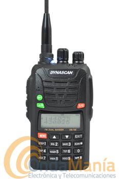 OFERTA!!! DYNASCAN DB-75E WALKY DOBLE BANDA CON RADIO FM Y LINTERNA LED - El Dynascan DB-75E es un transceptor portatil doble banda (UHF y VHF) con recptor de radio FM comercial, linterna LED, norma IP55 Waterproof, incluye CTCSS y DCS, escaner de banda , CTCSS y DCS,...