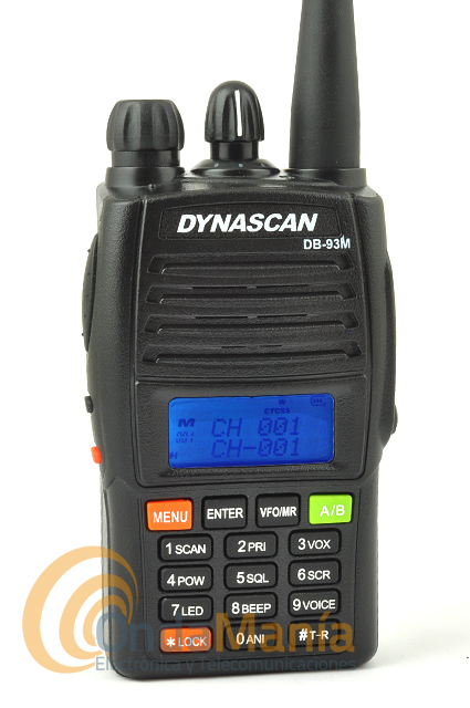 DYNASCAN DB-93M WALKY DOBLE BANDA UHF/VHF FULL DUPLEX CROSS BAND OUTLET