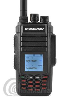DYNASCAN DB-78 TRANSCEPTOR PORTATIL DOBLE BANDA VHF/UHF CON RADIO FM COMERCIAL+PINGANILLO DE REGALO - El Dynascan DB-78W es un walki-talkie doble banda UHF/VHF con recepción de radio comercial FM, dispone de batería de litio de alta capacidad con 7,4 V y 2800 mAh, doble escucha, 999 canales de memoria y grandes y sorprendentes funciones.