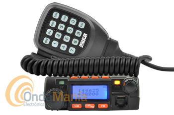 DYNASCAN DB-M16 TRANSCPTOR MOVIL FM BIBANDA VHF/UHF CON RADIO COMERCIAL FM