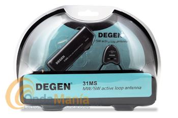 DEGEN 31MS ANTENA ACTIVA PARA MW Y SW - Antena activa para onda media MW de 530 kHz a 1600 kHz aprox.y onda corta SW de 4 a 21 MHz aprox. requiere dos pilas AAA (no incluidas) para su funcionamiento.