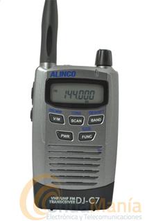 ALINCO DJ-C7E PORTATIL DOBLE BANDA UHF/VHF