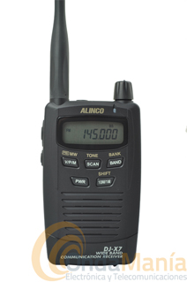 ALINCO DJ-X7E RECEPTOR DE BANDA ANCHA - Receptor de banda ancha 100 kHz - 1300 Mhz con 1000 memorias con batría de Ion-Litio, con AM, FM y WFM, es muy pequeño y fácil de manejar.