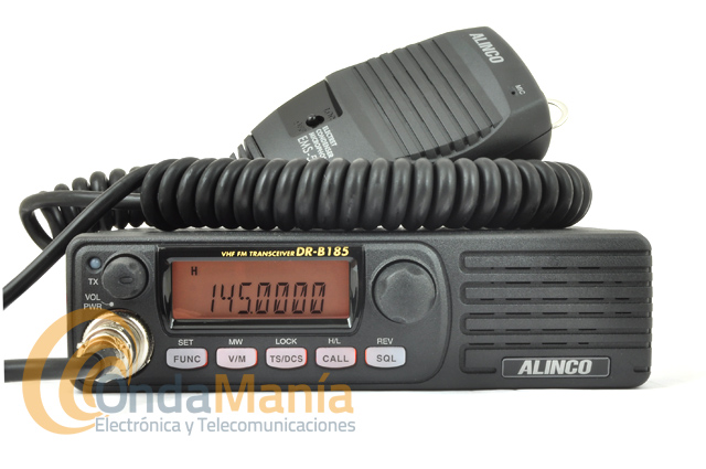 ALINCO DR-B185HE EMISORA MOVIL VHF ALTAVOZ FRONTAL, 85 W