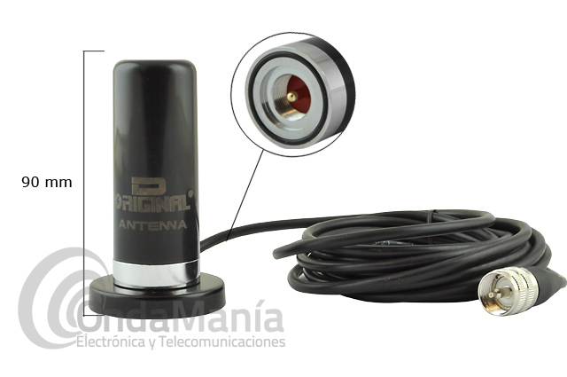 D-ORIGINAL DX-N2RS-BM6 MINI ANTENA PHANTOM MAGNETICA DOBLE BANDA