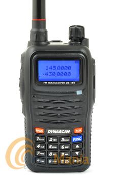 DYNASCAN DB-150 PORTATIL DOBLE BANDA CON RADIO FM+PINGANILLO DE REGALO - Equipoportátildoble banda UHF / VHF con radio FM comercial, función de identificador de usuarios mediantecódigos ANI, DTMF con 2 y 5 tonos.