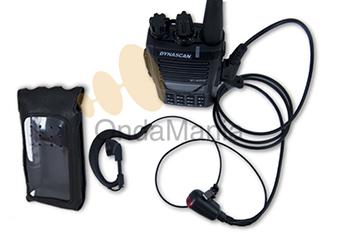 DYNASCAN V-400 + PINGANILLO + FUNDA - Dynascan V-400 Transceptor portatill de VHF con radio de FM, 128 canales de memoria, batería de Ion-Litio, cargador de sobremesa rápido, muy ligero con225 gramos,5 tonos,... Incluye funda y pinganillo.