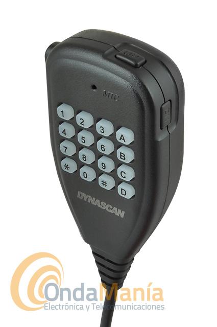DYNASCAN M-24 MINI EMISORA MOVIL DE VHF CON RADIO FM COMERCIAL - Emisora de VHF con receptor de radio FM comercial, dispone de 199 canales de memoria, dos niveles de potencia seleccionables 4W /10W, reducido tamaño, micrófono con teclado y dos teclas laterales para subir y baja frecuencias o memorias, tonos CTCSS y DCS.