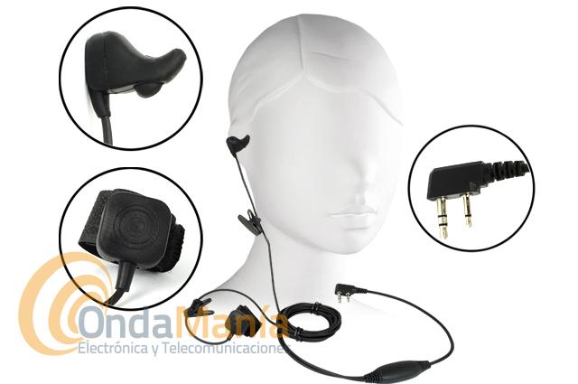 EARBONE-VIBRATION-MIC-MICRO-AURICULAR VIBRACION CRANEAL WALKYS CONMUTACION TIPO KENWOOD - Se termino el llevar micrófono y auricular. Con el Earbone-K y su sensor oido interno recibimos y transmitimos con un solo auricular que también hace de micrófono. Esta versión es para Kenwood, Kirisun y Midland CT-200, CT-210, CT-710,... Dynascan, Team, Baofeng,... Ideal para volar (ala delta, parapente,...), competiciones deportivas, discotecas,...
