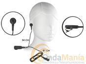 MICRO-AURICULAR KENWOOD EMC-11 - El EMC-11 es un nuevo micrófono de clip con auricular y PTT queofrece un cable de mayor durabilidad.